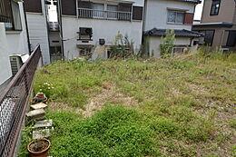 敷地面積は約46.3坪で広々。(よう壁含む)現地(2017年10月1日)撮影