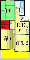 ファミーユK[3階]の間取り