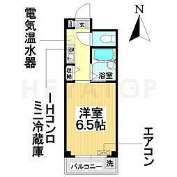 愛知県名古屋市瑞穂区彌富通4丁目の賃貸マンションの間取り