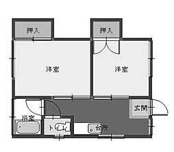 藤井アパート[1階]の間取り