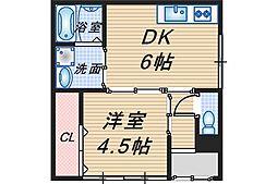 愛名マンション[107号室]の間取り