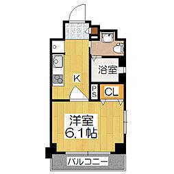 エステムプラザ京都ステーションレジデンシャル[603号室]の間取り