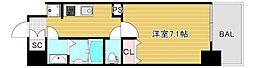 JR大阪環状線 弁天町駅 徒歩9分の賃貸マンション 3階1Kの間取り
