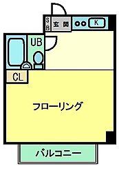 日野グリーンヒルコーポ[103号室]の間取り