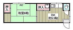 宮里荘[207号室]の間取り