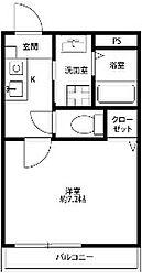 神奈川県横浜市港南区上永谷1の賃貸マンションの間取り