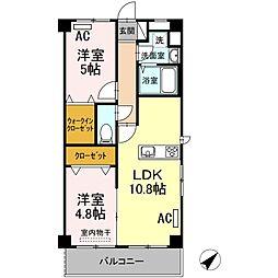(仮)長門市駅前アパート[2階]の間取り