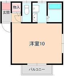 中桜塚ハイツ[201号室]の間取り