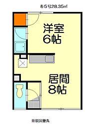 寿マンション[5号室]の間取り