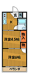 東京都国分寺市東恋ヶ窪3丁目の賃貸マンションの間取り