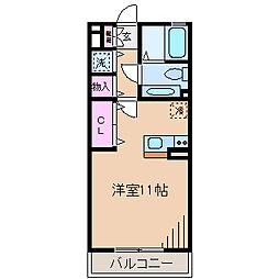 神奈川県横浜市神奈川区片倉3丁目の賃貸アパートの間取り