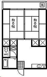 第一齋藤コーポ[203号室]の間取り
