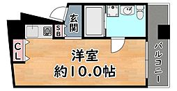 JR東海道・山陽本線 灘駅 徒歩1分の賃貸マンション 5階ワンルームの間取り