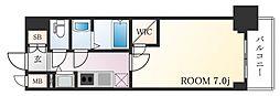 JR東海道・山陽本線 神戸駅 徒歩5分の賃貸マンション 2階1Kの間取り