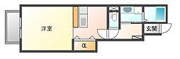 岡山電気軌道東山本線 東山・おかでんミュージアム駅駅 徒歩29分の賃貸アパート 1階1Kの間取り