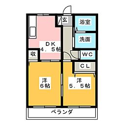 セレーノY[2階]の間取り