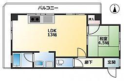 第3野上マンション[4階]の間取り