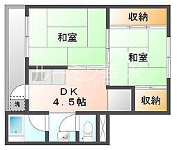 ビレッジハウス小坂2[2階]の間取り