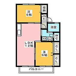 サクセス石川 A・B[2階]の間取り