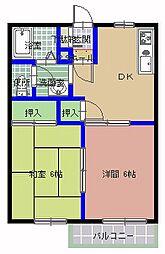 第二エントピア新井[105号室]の間取り