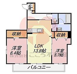 (仮称)堺市東区野尻町計画 2階2LDKの間取り