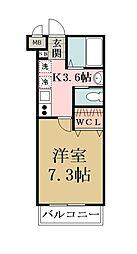 キャメル草加氷川町II[3階]の間取り