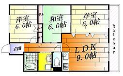 メイカーサ千里パートI[2階]の間取り