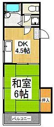トーマコーポ1号棟[2階]の間取り