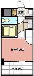 ライオンズマンション三萩野駅前[602号室]の間取り