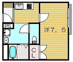 大阪府茨木市豊原町の賃貸マンションの間取り