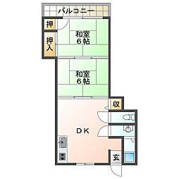 京作コーポ[2階]の間取り