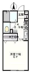 神奈川県横浜市磯子区馬場町の賃貸アパートの間取り