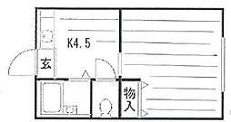 東京都江東区南砂4丁目の賃貸マンションの間取り