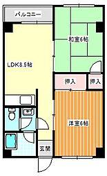 阪下ハウスマンションA棟[705号室]の間取り