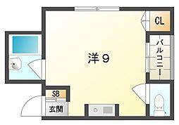 シャルマン大宮[4階]の間取り