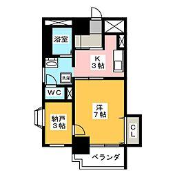 パールコートII[7階]の間取り