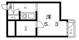 天王寺センターハイツ[9階]の間取り