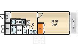 IF都島[104号室]の間取り