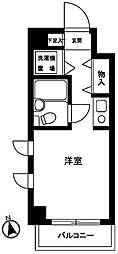ライオンズマンション蒲田第3[4階]の間取り