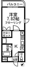 K.S柿生[406号室]の間取り