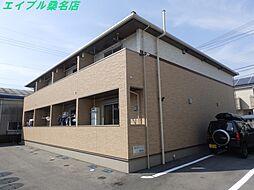 三重県桑名市大字小貝須の賃貸アパートの外観