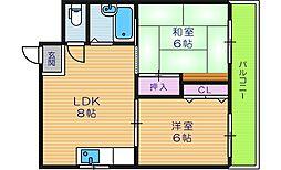 シティパレス今川パートIII[5階]の間取り