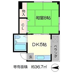 京峰ビル[2階]の間取り