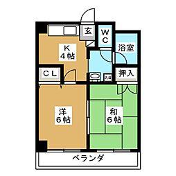 シティパル田子[3階]の間取り