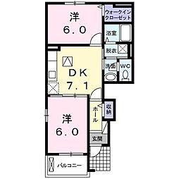 ミニヨンハウスSAYA 2[B101 号室号室]の間取り