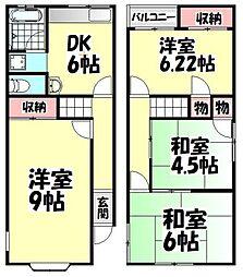 [一戸建] 大阪府高石市千代田2丁目 の賃貸【/】の間取り