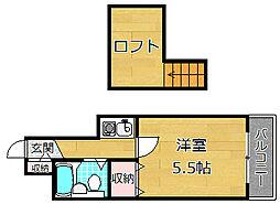大阪府枚方市招提平野町の賃貸アパートの間取り