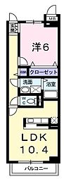 埼玉県川口市大字赤山の賃貸マンションの間取り