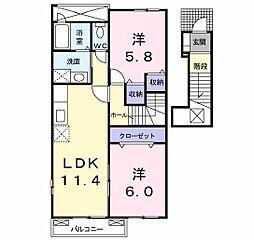サニー・ハウス[2階]の間取り