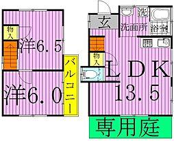 [一戸建] 千葉県柏市藤心2丁目 の賃貸【/】の間取り